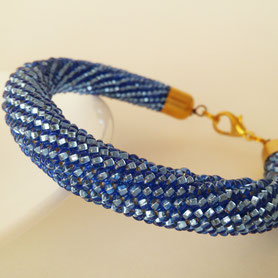 Shiny Blue Bracelet, Beadwork Bracelet, Bead Crochet, ukrainian jewelry, Teal Disco Bracelet Shiny Blue Cyan Beadwork Women jewelry Prom Single color gold Bracelet gift for women girlfriend Party casual bracelet