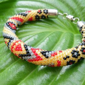 браслет, жгут из бисера, Bracelet