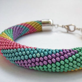 Lollipop bracelet, Multicolor, Beadwork Bracelet, Bead Crochet, ukrainian jewelry,