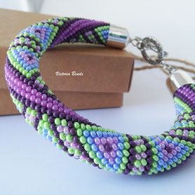 Geometric triangle bracelet, Teal Purple Green Beadwork bracelet, Gift for women, Bead Crochet bracelet, casual cute Bracelet, Jewelry, mom girlfriend gift Bangles