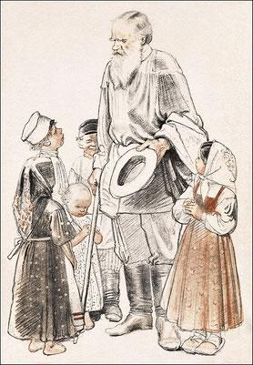 Лев Толстой обращается к крестьянским детям