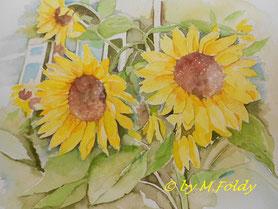 Sonnenblumen 24x32cm