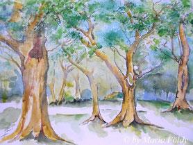 Bäume 28x38 cm (40.-€ + Versand)