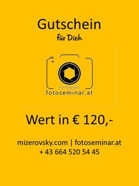 Fotokurs Gutschein schenken