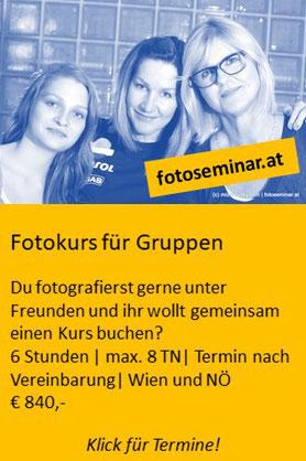 Fotokurse Wien ganze Gruppen