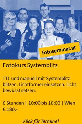 Fotokurs Systemblitz