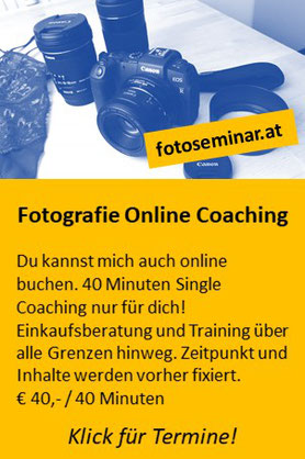 Fotografie Online Coaching