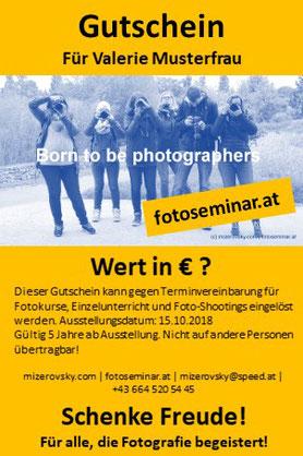 Gutschein für Fotokurs schenken