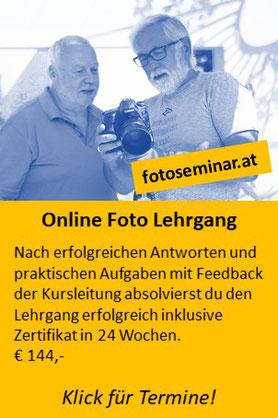 Online Foto Lehrgang in 24 Lektionen