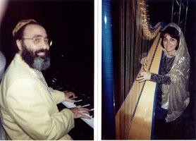Nehama REUBEN & Shimon REUBEN. DUO REUBEN. harp & piano Concert Paris. 2000