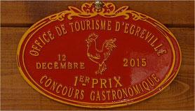 médaille concours gastronomique Egreville
