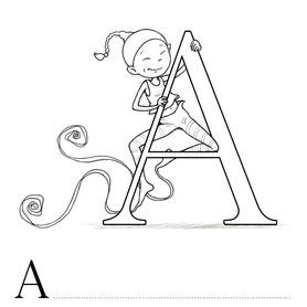 Lettre A coloriage alphabet