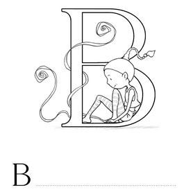 Lettre B coloriage alphabet