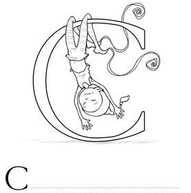 Lettre C coloriage alphabet