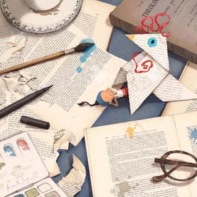 illustration,Timeliot a fabriqué une cocotte en papier