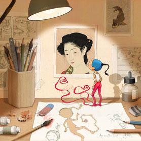 illustration,Timeliot est sorti de son dessin. Site de timeliot.eu