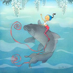 Timeliot sur un poisson
