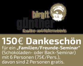 150 EURO Dankeschön, Birgit Günther, Konditorie, Bäckermeisterin, Alsfeld