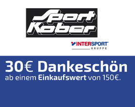 30 EURO Dankeschön, Sport Kober, Intersport, Alsfeld