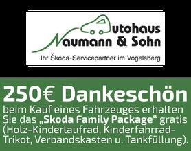 250 EURO Dankeschön, Autohaus Naumann, Skoda, Kirtorf