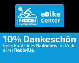10% Dankeschön-Gutschein, Neon EBike-Center, Alsfeld, Fahrräder, Radhelme, Radbrillen, EBikes