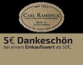 Carl Ramspeck, Haushaltswaren, Geschenke, Alsfeld