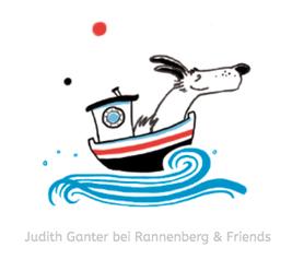 Hund - Voll mein Tag - Illustration & Spruch von Judith Ganter, Hamburg - Illustriertes Kopfkino für Alltagsoptimisten - bei Rannenberg & Friends - Geschenkartikel - Erhältlich als Frühstücksbrettchen, Autoschwamm, Kühlschrankmagnet, Lineal, Tasse