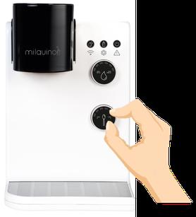 Babymilch Automat Pulvermenge einstellen - Milquino