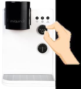 Babymilch Automat Wassermenge einstellen - Milquino