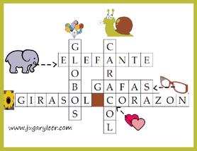 solución crucigramas infantiles con imágenes