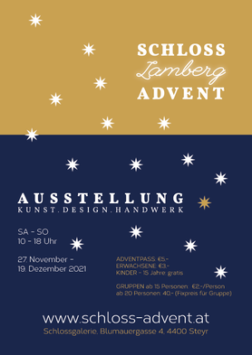 Adventmarkt Steyr 2020, Schloss Lamberg Advent; Kunst, Design, Handwerk