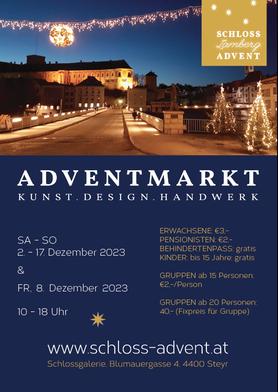 Adventmarkt Steyr 2021, Schloss Lamberg Advent; Kunst, Design, Handwerk