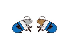 写真:電気工事会社様キャラクターデザインイラスト