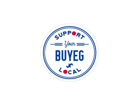 BUYEGステッカーデザイン