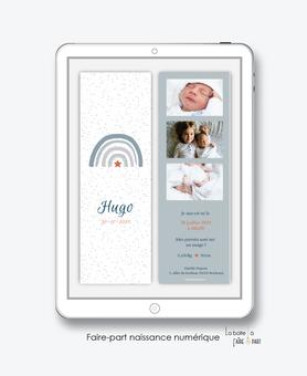faire-part naissance garçon numérique-faire part naissance digital-faire part numérique-pdf imprimable-pdf numérique-faire part connecté-arc en ciel-etoile-A imprimer-faire-part à envoyer par sms-mms-faire-part à envoyer par mail-réseaux sociaux