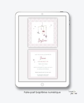 faire-part naissance fille numérique-électronique-Fairepart naissance digital-faire part numérique-pdf numérique-faire part connecté-petit mobile-nuage-oiseau-plume-faire part à imprimer soi-même-faire-part à envoyer par sms-faire-part à envoyer par mail