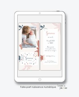faire-part naissance numérique-faire part électronique-faire part numérique-imprimable-pdf numérique-faire part connecté-motif abstrait- terrazzo-faire part à imprimer soi-même-faire-part à envoyer par sms-mms-par mail-réseaux sociaux-whatsapp-facebook