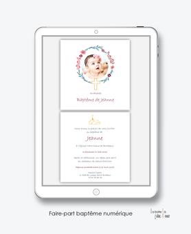 faire-part baptême fille numérique-faire part baptême digital-faire part numérique-pdf imprimable-pdf numérique-faire part connecté-croix couronne-église-faire part à imprimer soi-même-faire-part à envoyer par sms msm-faire-part à envoyer par mail