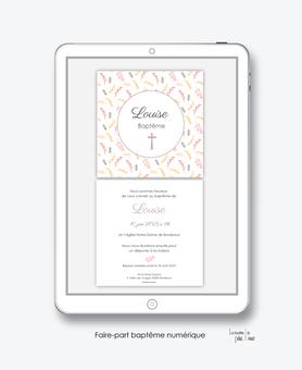 faire-part baptême fille numérique-faire part baptême électronique-faire part numérique-imprimable-pdf numérique-faire part connecté-faire-part à envoyer par mms-à envoyer par mail-réseau sociaux- tige végétal-croix-motif champetre-religieux-eglise