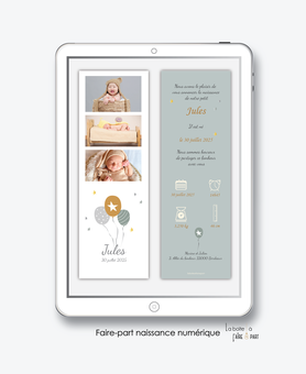 faire-part naissance numérique-faire part électronique-faire part numérique-imprimable-pdf numérique-faire part connecté-ballons-etoiles-pictogramme-faire part à imprimer -faire-part à envoyer par sms-mms-par mail-réseaux sociaux-whatsapp-facebook