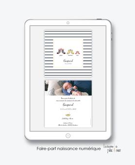 faire-part naissance numérique-faire part électronique-faire part numérique-imprimable-pdf numérique-faire part connecté-botte marin rayure-faire part à imprimer soi-même-faire-part à envoyer par sms-mms-par mail-réseaux sociaux-whatsapp-facebook