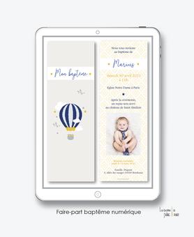 faire-part baptême garçon numérique-faire part baptême digital-faire part numérique-pdf imprimable-pdf numérique-faire part connecté-montgolfière -nuage-faire part à imprimer soi-même-faire-part à envoyer par sms ou msm-faire-part à envoyer par mail