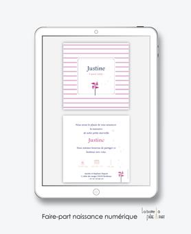 faire-part naissance fille numérique-faire-part naissance fille électronique-fichier pdf - à imprimer soi même-à envoyer par mail -à envoyer par mms-sms -moulin à vent  -Rose et blanc-whatsapp-messenger-réseaux sociaux-pictogramme