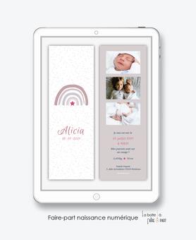 faire-part naissance numérique-faire part naissance électronique-faire part numérique-pdf numérique-faire part connecté-arc en ciel-etoile- -faire part à imprimer soi-même-faire-part à envoyer par sms ou mms-faire-part à envoyer par mail-réseaux sociaux