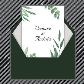 Faire-part mariage gif animé-faire-part mariage virtuel- faire part mariage digital-faire-part mariage numérique animé-électronique-à envoyer via les réseaux sociaux-whatsapp-facebook-messenger-mms-végatal-eucalyptus-champêtre