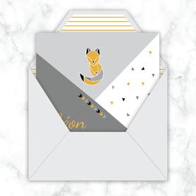 issance garçon gif animé-faire-part naissance virtuel-faire part naissance digital-faire-part naissance numérique animé-électronique-à envoyer via les réseaux sociaux-whatsapp-facebook-messenger-mms-faire-part naissance vidéo-renard origami