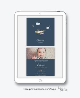 faire-part naissance numérique-faire part électronique-faire part numérique-imprimable-pdf numérique-faire part connecté-avion-nuage-oiseaux-vintage-faire part à imprimer soi-même-faire-part à envoyer par sms-mms-par mail-réseaux sociaux-whatsapp-facebook