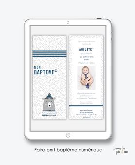 faire-part baptême garçon numérique-faire part baptême digital-faire part numérique-pdf imprimable-pdf numérique-faire part connecté-ourson-marin-oiseaux-faire part à imprimer soi-même-faire-part à envoyer par sms ou mms - faire-part à en
