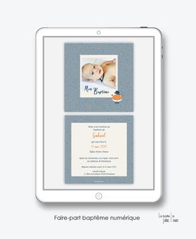 faire-part baptême garçon numérique-faire part baptême digital-faire part numérique-pdf imprimable-pdf numérique-faire part connecté-Petit renard-faire part à imprimer soi-même-faire-part à envoyer par sms ou msm-faire-part à envoyer par mail