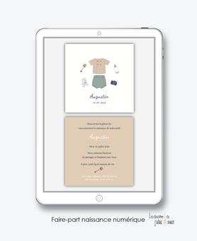 faire-part naissance garçon numérique-faire part naissance digital-faire part numérique-pdf imprimable-pdf numérique-faire part connecté-éléphant couronne -à imprimer-faire-part naissance à envoyer par mail ou mms-réseaux sociaux